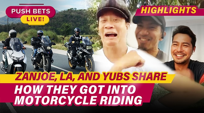 Zanjoe, LA, and Hyubs share how they got into motorcycle riding | Push Bets Highlights