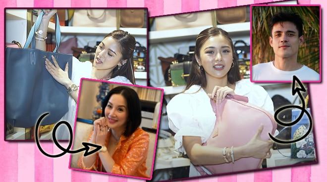 WATCH: Kim Chiu shows bags given to her by Xian Lim and Kris Aquino