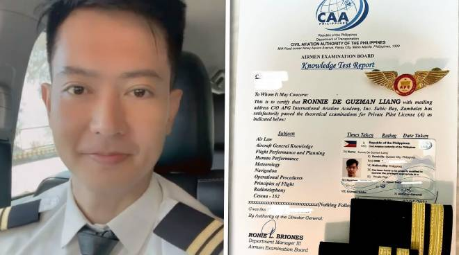 'My childhood dream has now materialized': Ronnie Liang becomes a licensed pilot