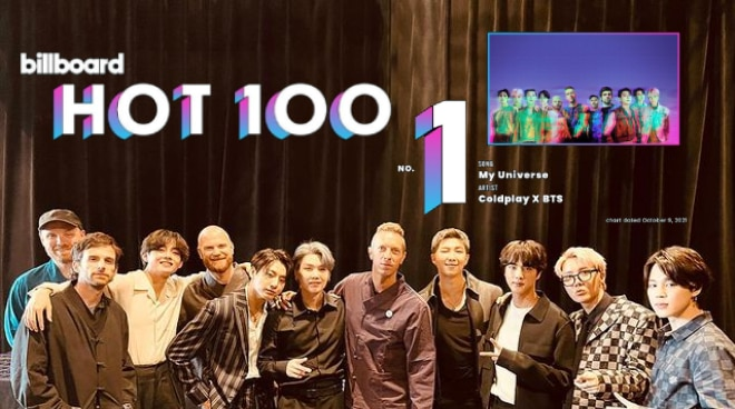 Coldplay and BTS collab 'My Universe' debuts at number 1 on Billboard Hot 100