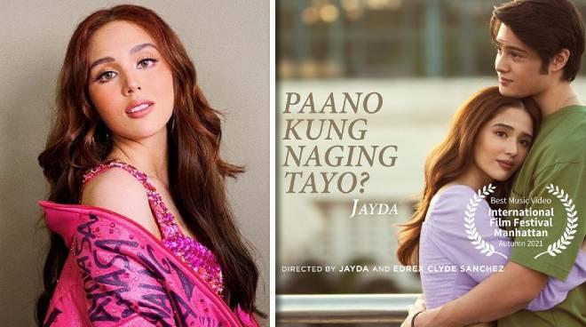 Jayda's 'Paano Kung Naging Tayo' MV wins as Best Music Video at the International Film Festival Manhattan 2021