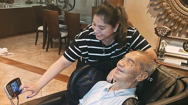 Angel Locsin thanks fans for praying for COVID-stricken father