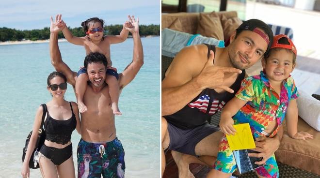 LOOK: Derek Ramsay and Ellen Adarna bond with Elias in Siargao