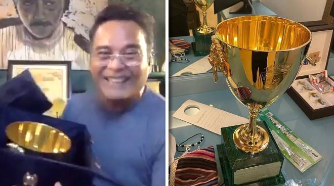 WATCH: John Arcilla holds Volpi Cup for the first time