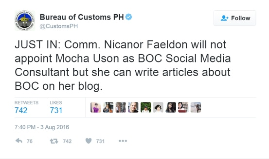 Mocha Uson appointed as MTRCB board member