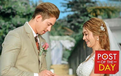 WATCH: Bangs Garcia and Lloydi Birchmore's romantic Boracay wedding