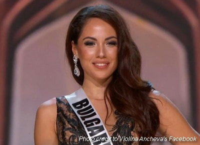 Miss Bulgaria gives her gown to single mom's daughter