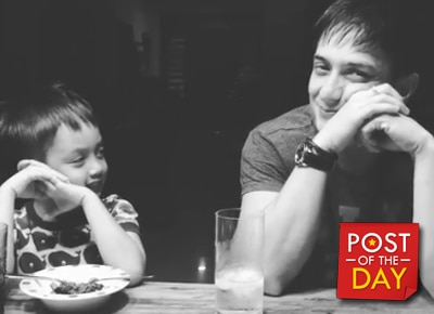 LOOK: Ryan Agoncillo's candid father & son moment with Lucho