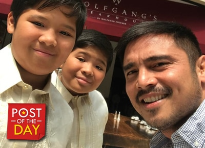 Marvin Agustin's twins celebrate their graduation