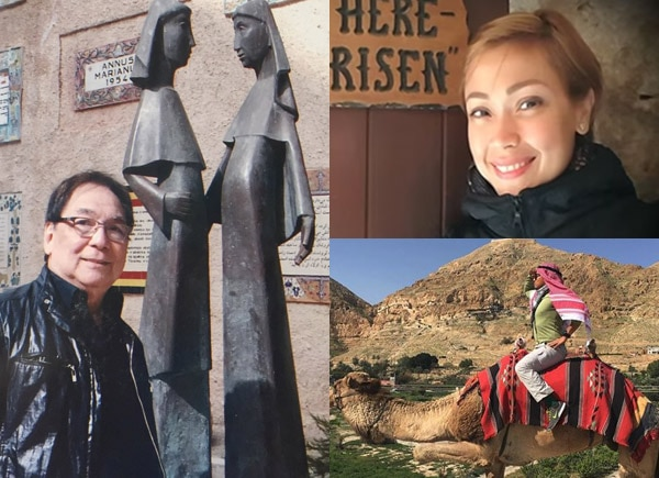 Filipino celebrities who visited the Holy Land