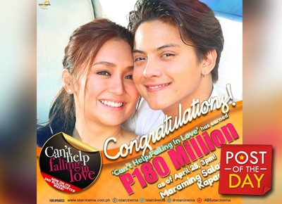 LOOK: KathNiel's Can't Help Falling In Love rakes in P180 million