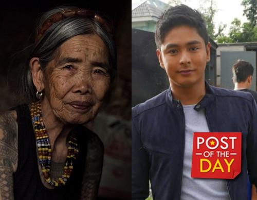 Kalinga's oldest tattooist Whang-od wants to meet her crush Coco Martin