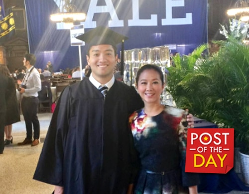LOOK: Korina Sanchez's proud tita moment after Paolo Roxas graduates from Yale