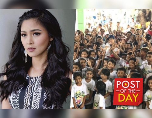 LOOK: Kim Chiu gives back to children in Pangasinan