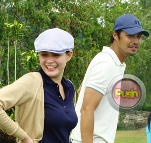 Bea Alonzo spends a day of playing golf with Zanjoe Marudo