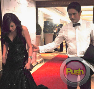Gerald Anderson leaves the Star Magic ball with Bea Alonzo