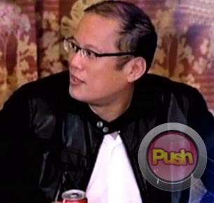 President Aquino says no one would date him now for fear of becoming part of the headlines