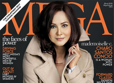 ABS-CBN President Charo-Santos Concio lands the cover of Mega