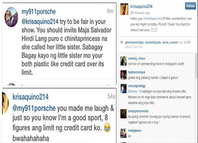 Kris Aquino replies to basher on Instagram; states why she loves Kim Chiu