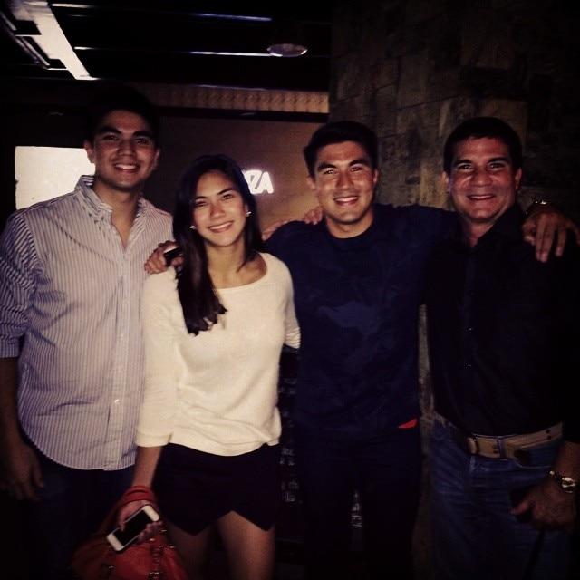 Edu Manzano with Zo, Addie and Luis