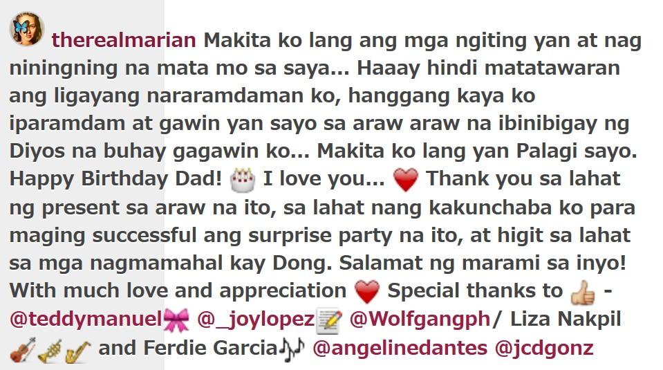 Marian surprises Dingdong on his birthday