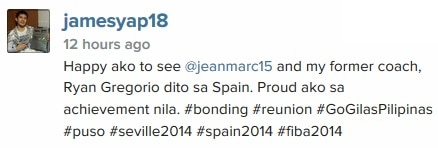 James happy to see Marc Pingris and former coach in Spain