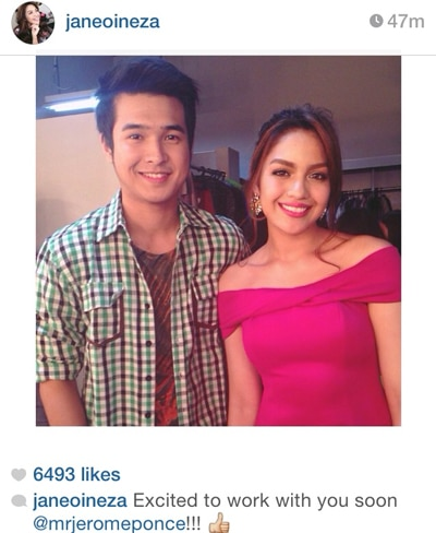 Jane is excited to work w/ Jerome Ponce