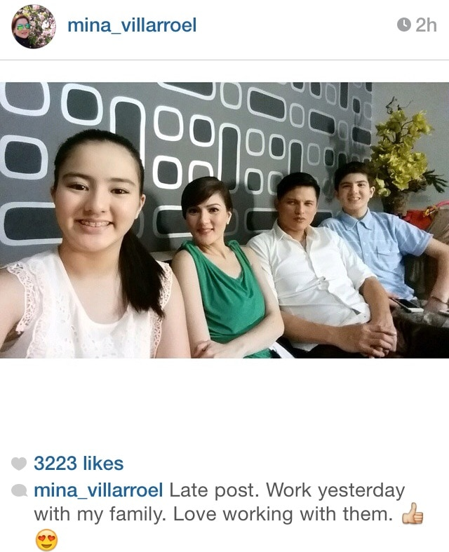 Carmina loves working with her family