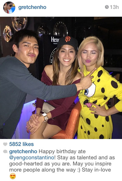 Gretchen and Robi with the birthday girl Yeng