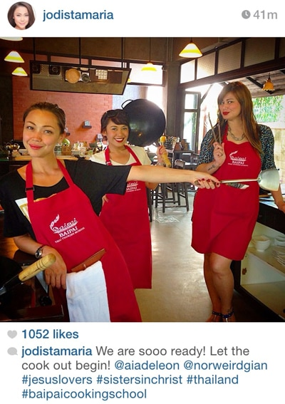 Jodi nasa cooking school sa Thailand