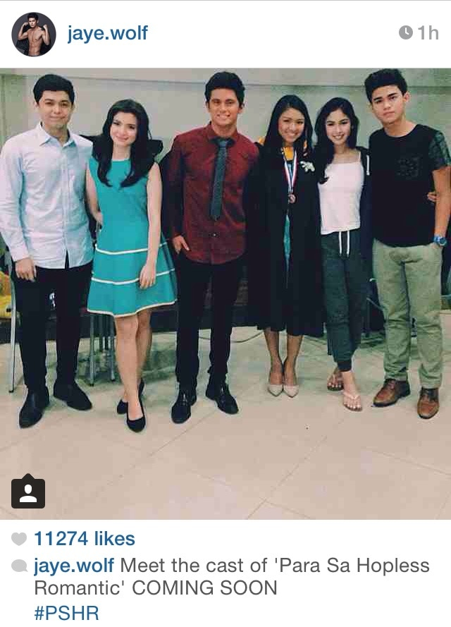 James with the cast of 'Para Sa Hopeless Romantic'