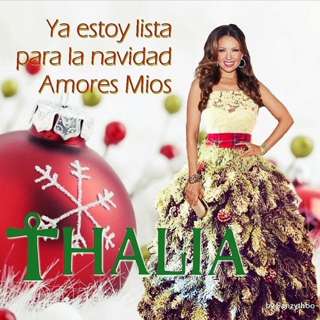 Thalia and her Christmas Dresses