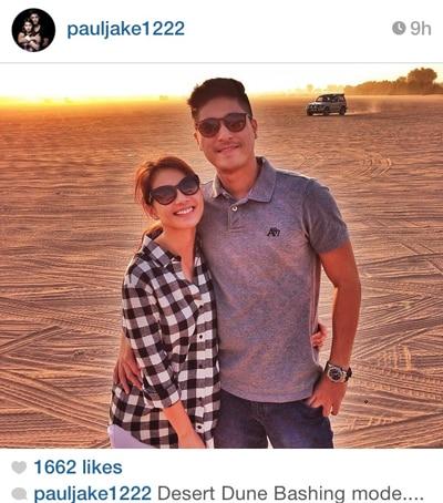 Kaye is in Dubai with Paul Jake & friends