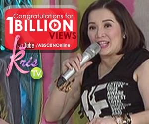 Congratulations to ABS-CBN entertainment for reaching 1B Youtube Page Views
