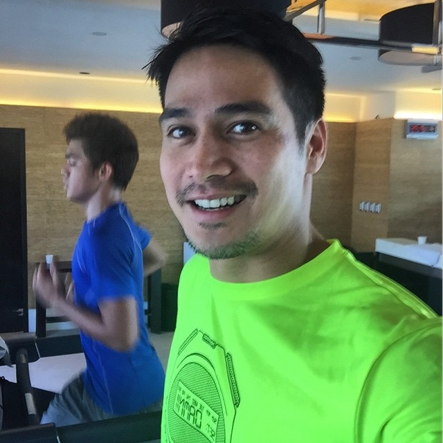 Ang gym bonding ni Papa P at Inigo