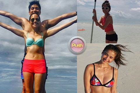 Sexy celebrities show off their summer time looks