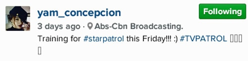 "Yam Concepcion on subbing for Star Patrol: ""What an experience!"""