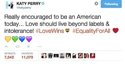 Celebrities laud legalization of same sex marriage in the US