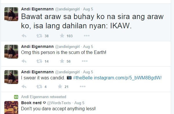 Andi Eigenmann calls Jake Ejercito as 'scum of the Earth'