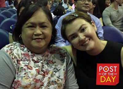 Angelica's mom first time magpa-picture sa isang artista!