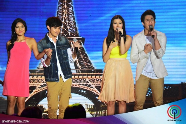 17 LizQuen and JaDine in one supah kilig number on ASAP.jpg