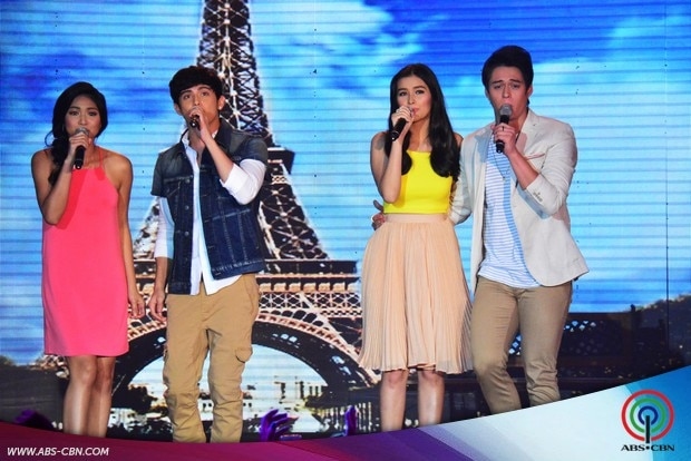 25 LizQuen and JaDine in one supah kilig number on ASAP.jpg