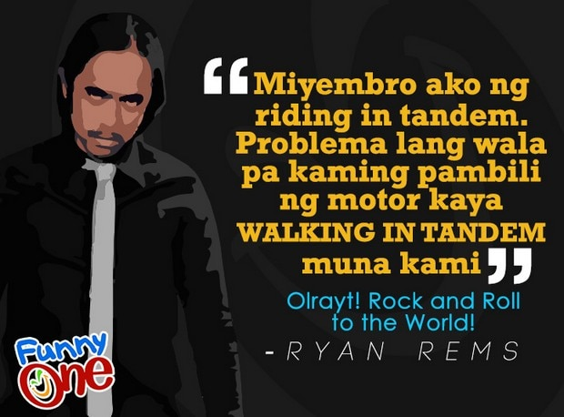 Mga rock and roll to the world hirit ni Ryan Rems Sarita