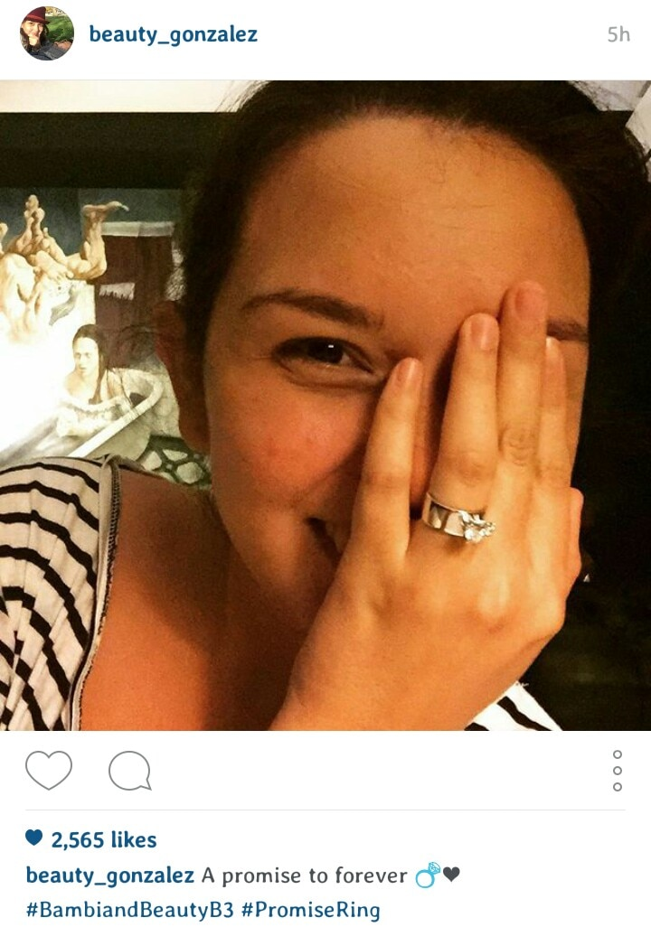 Is Beauty Gonzalez walking the aisle soon?
