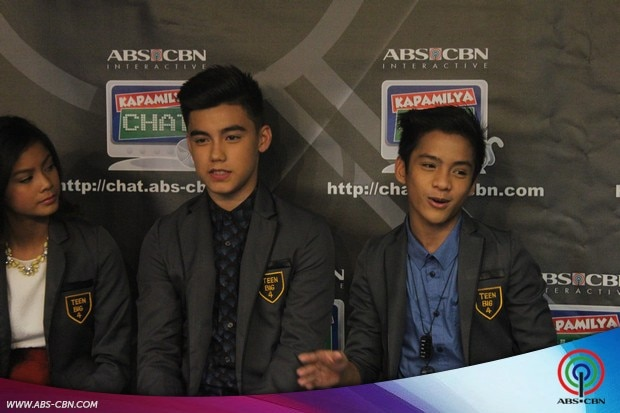 LOOK: PBB 737 Teen Big 4 Ylona, Bailey, Franco and Jimboy, first time sa Kapamilya Chat