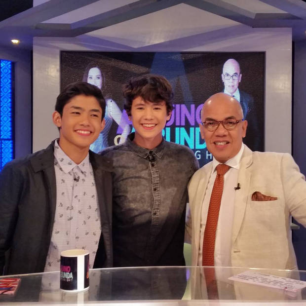 2 Teen idols with Boy Abunda on Aquino and Abunda Tonight JK Labajo Grae Fernandez.jpg