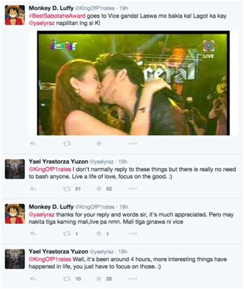 Yael Yuzon reacts to Karylle and Vice Ganda's kiss; defends his wife from bashers