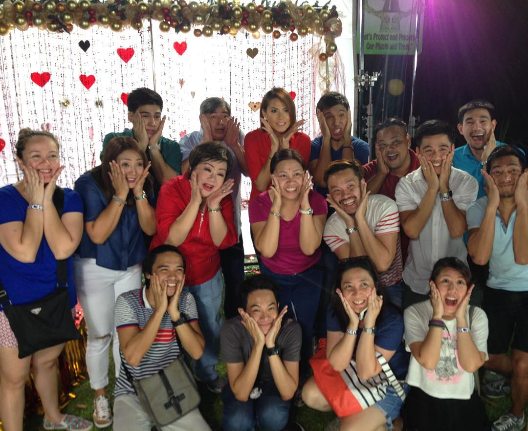 BEHIND-THE-SCENES: On The Wings of Love stars at the ABS-CBN Christmas 2015 Station ID shoot