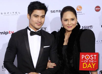 Charo Santos-Concio and Piolo Pascual at the International Emmy's red carpet
