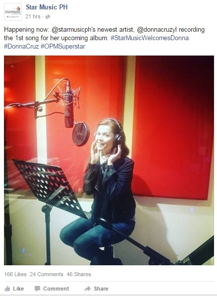 Donna Cruz is back to recording!